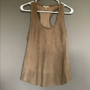 Leather Joie tank top